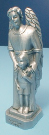 Guardian Angel with Boy Pewter Statue & Card, # 12023