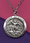 St. Michael Medal 3/4 In. Sterling, # 13323