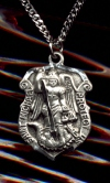 Shield St. Michael Medal in Sterling - 3/4