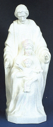 Holy Family 24in. Outdoor White Statue # 16421