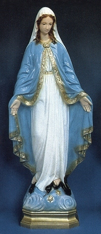 Our Lady Of Grace Outdoor Statue 24 Inch Colored 16424