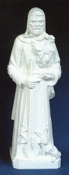 St. Fiacre 24in. Outdoor Statue White # 16427