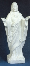 Sacred Heart Pleading Outdoor Statue 24 Inch White # 16429