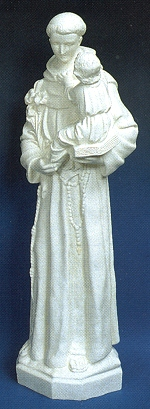 "24"" Outdoor Statue, St. Anthony, White # 16437"