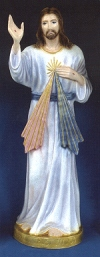 Divine Mercy  Outdoor Statue 24in. Colored # 16447