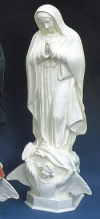 Our Lady Of Guadalupe 24in. Outdoor White Statue # 16448