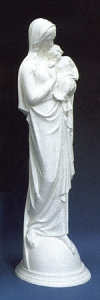 Madonna And Child Jesus 24in. Outdoor White Statue # 16454