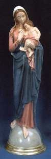 Madonna And Child Jesus 24in. Outdoor Statue Blue # 16456