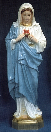 Immaculate Heart Of Mary 24in. Outdoor Colored Statue # 16462