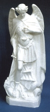 St. Michael 24in. Outdoor Statue White Finish # 16463