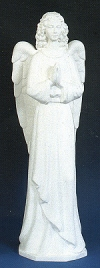 Standing Angel Outdoor Statue 36 in. White Finish # 16487