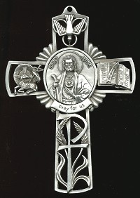 Pewter St. Jude Cross
