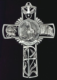 Pewter St. Catherine Cross