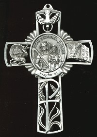 Pewter St. Michael/ Police Cross, # 16754