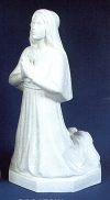 St. Bernadette Outdoor Statue 16 In. White # 19679