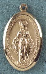 14kt Gold Large Miraculous Medal, # 21533