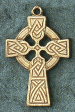 14kt Gold Medium Celtic Cross 7/8 In., # 21588