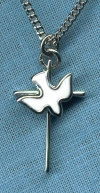 Sterling Silver Holy Spirit Necklace, Your Choice of Chain # 2283