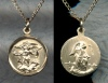 Small St. Michael Gold Filled Medal, # 2660-1