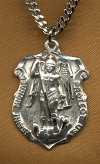 St. Michael Protect Us Sterling Medal, # 2422