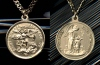 Large St. Michael Medal- Gold Filled, # 2447