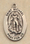 Oval St. Michael Medal Sterling, # 2794