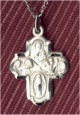 4-Way Medal Cross Sterling,Your Choice of Chain # 4573