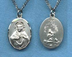 Scapular Medal - Oval Sterling