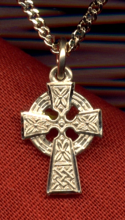 "1/2"" Celtic Cross, 14kt Gold Filled, Your Choice of Chain # 4952"