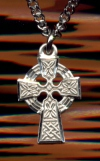 Small Celtic Cross in Sterling 1/2 In.Your Choice of Chain, # 4953