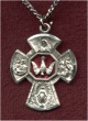Enameled Sterling 4-Way Medal, # 7074