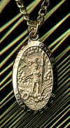 Patron of Police St. Michael Medal Gold on Sterling, # 7429