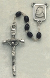 Black Wood John Paul II Rosary, # 7987