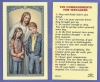 Teen Commandments Laminated Holy Card, 25-pack, # 59016