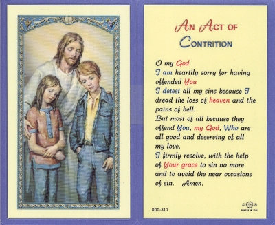 Act Of Contrition Laminated Holy Card, 25-pack, # 59024