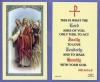 What The Lord Asks Laminated Holy Card, 25-pack, # 59046