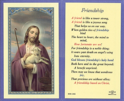 Friendship prayer holy card thecheapjerseys Gallery