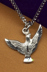 "1/2"" Holy Spirit Dove Medal, Sterling Silver, Your Choice of Chain, # 8936"