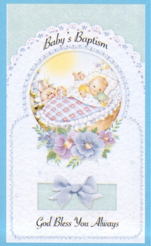 Baptism Greeting Card For Boy 63166