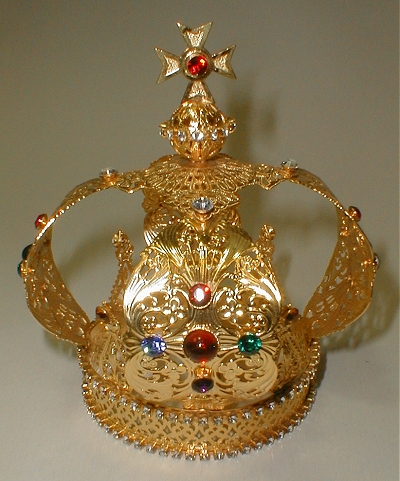 Gold Plate Jeweled Crown For 24 Quot Statue 92828