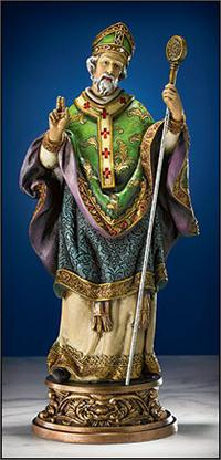 "9.75"" Full Color St. Patrick Statue, # 104598"