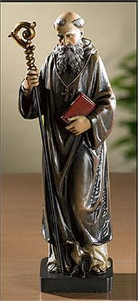"8"" Full Color St. Benedict Statue, # 104603"