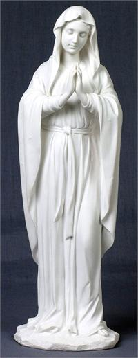 "Adoring Virgin White Resin Statue 12"", 92045"