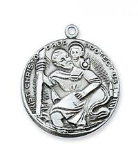 7/8 In. St. Christopher Medal Sterling, # 19775