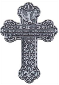 "5.5"" Metal Confirmation Message Wall Cross, #20177"