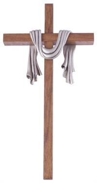 "10"" Robe Cross, Antique Pewter Finished, # 20729"