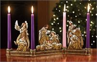 "18"" long, Metallic Nativity Candleholder, # 3880"