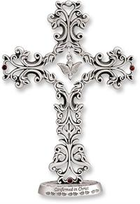 "5"" Pewter Confirmation Standing Cross, # 41408"