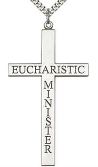 "Eucharistic Minister Cross Necklace 2.5"" Sterling, Your Choice of Chain # 43482"