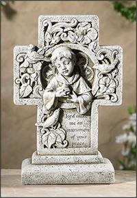 "10.5"" Saint Francis Cross Figurine, # 45290"